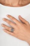 Anillo botón charro plata marcasitas pq