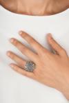 Anillo botón charro plata marcasitas gd