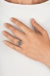 Anillo botón charro plata pq