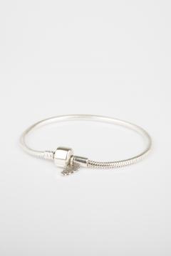 Pulsera plata cordón para charms