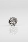Charm botón charro plata