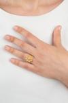 Anillo Botón Charro Plata Chapada Perlas