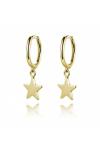 Pendientes Aro Estrella Dorado